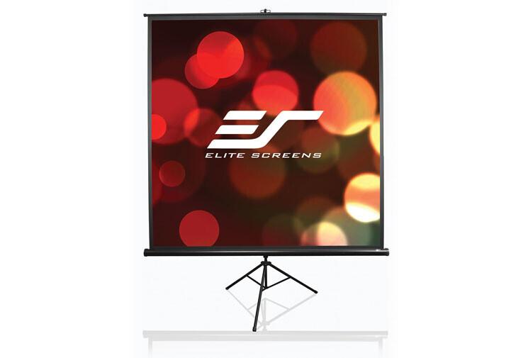 Elite Screens Tripod Stativleinwand Format 1:1, 177x177cm