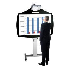 Cloudboard fahrbares, elektrisch höhenverstellbares System (ohne Projektor)