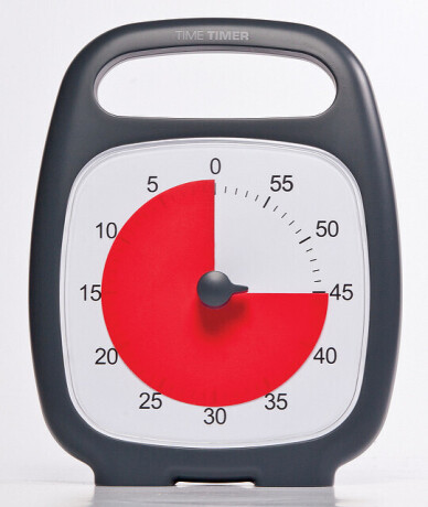 Time Timer PLUS, schwarz (14x18 cm)
