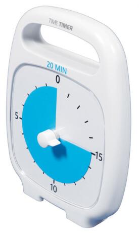 Time Timer PLUS 20 min, weiß (14x18 cm)
