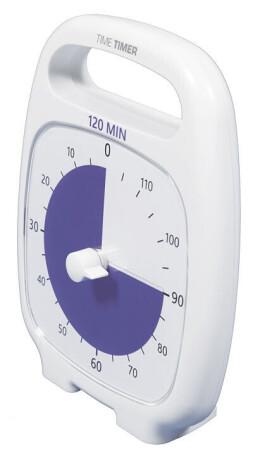 Time Timer PLUS 120 Minuten, weiß (14x18 cm)