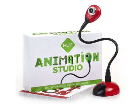 HUE Animation Studio Komplettes Stop-Motion-Animation-Kit mit Kamera für Windows-PCs & Mac, rot