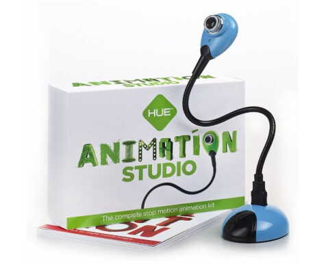 HUE Animation Studio Komplettes Stop-Motion-Animation-Kit mit Kamera für Windows-PCs & Mac, blau