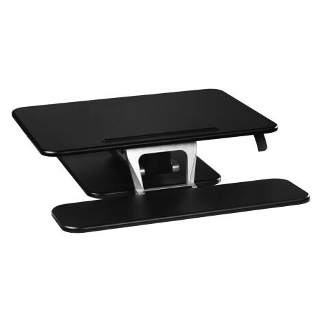 Hama Aufsatz für Sitz-Steh-Arbeitsplatz, M (80,0 x 52,0 cm), Schwarz