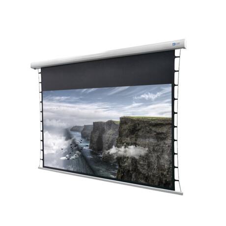 "DELUXX Cinema Motorleinwand Tension 203 x 114cm, 92"" - 4k Pro Fibre MWHT"