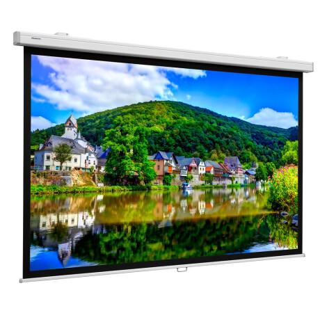 Projecta Rollo Leinwand Projecta ProScreen CSR, 240 x 139 cm, 16:9, Mattweiß mit erweitertem Vorlauf
