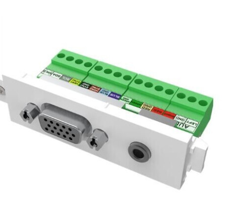Vision TechConnect 3 VGA+3.5mm module - modulares Faceplate-Snap-In