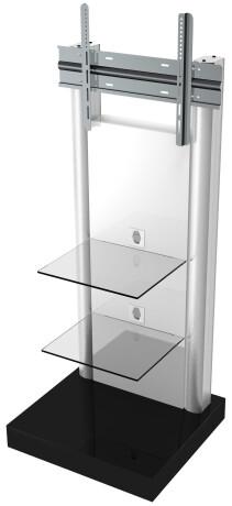 """VCM Standfuß """"Pro Stand"""" Klarglas, Lieferung erfolgt aufgebaut, abschließbar"""