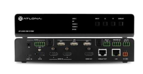 Atlona AT-UHD-SW-510W Multiformat Switcher, Drahtlos