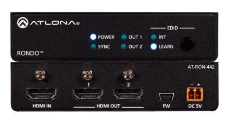 Atlona AT-RON-442 HDMI Splitter, 1 X 2