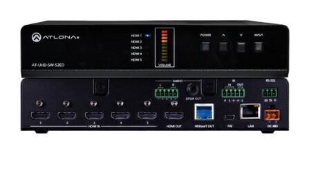 Atlona AT-UHD-SW-52ED HDMI Switcher 5 X 2