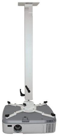 MEDIUM Deckenhalterung Exclusiv 67-107cm - weiss - inkl. Winkelmontage bis 90° Kugelgelenk Schnellsp
