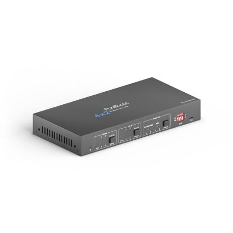 OneAV 4x2 4K 18Gbps HDMI Matrix mit Scaling und Audioextraktion