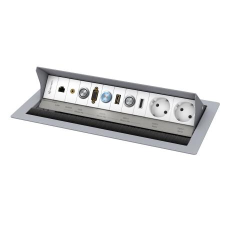 Kindermann CablePort standard2 6-fach Ausführung für MultiShare 31 Pulverbeschichtet RAL 9006