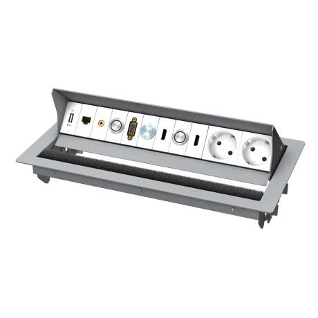 Kindermann CablePort standard2 6-fach Ausführung für Quickselect 3.0 Pulverbeschichtet RAL 9006
