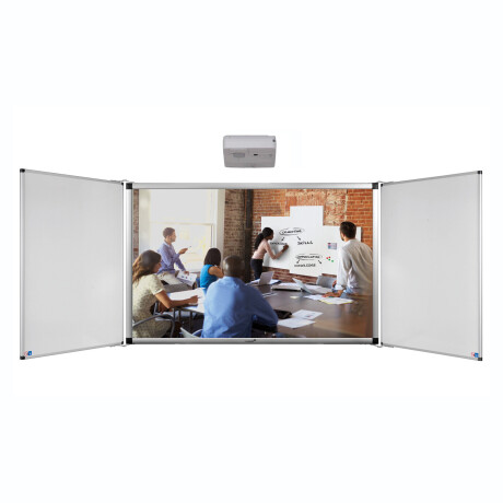 "Legamaster ECO-Paket 1F: e-Board Touch 85"" Wandmontage + Flügel"