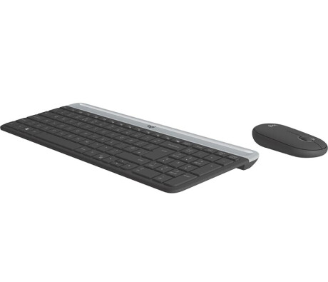 Logitech MK470 Slim Combo Set, kabellos, grau