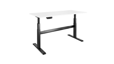 celexon Schreibtisch Professional eAdjust-65120B - schwarz, inkl. HPL Tischplatte 150 x 75 cm