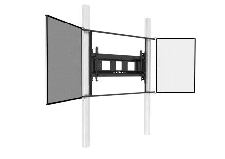 celexon Expert manuelles 2-Säulen-Pylonensystem Adjust-6586W für Displays mit Flügeln
