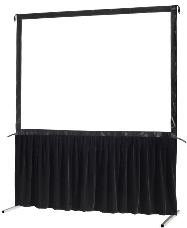 celexon Vorhangset 1-seitig für Faltrahmenleinwand Mobil Expert 406 x 305 cm