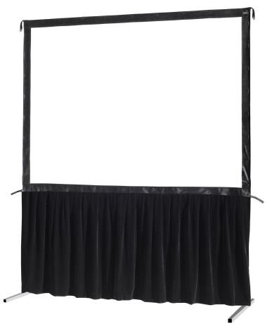 celexon Vorhangset 1-seitig für Faltrahmenleinwand Mobil Expert 203 x 114 cm