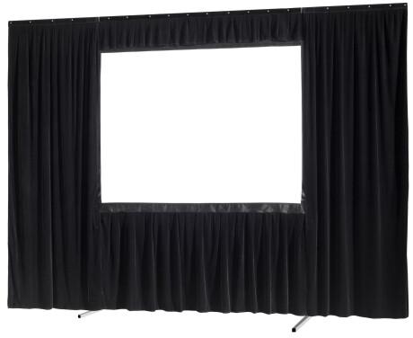 celexon Vorhangset 4-seitig für Faltrahmenleinwand Mobil Expert 244 x 152 cm