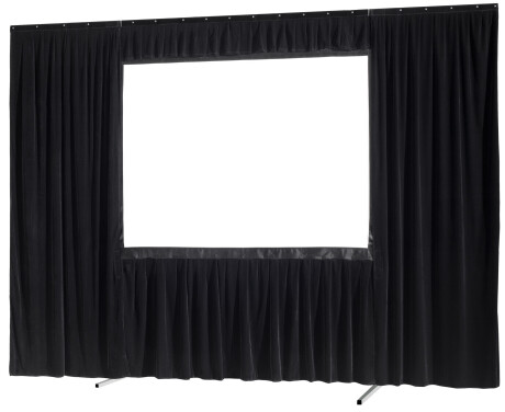 celexon Vorhangset 4-seitig für Faltrahmenleinwand Mobil Expert 406 x 254 cm