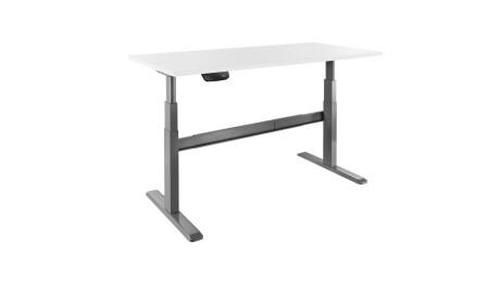 celexon elektrisch höhenverstellbarer Schreibtisch Professional eAdjust-65120G - grau, inkl. Tischpl