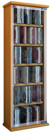 VCM CD / DVD Möbel Classic - Schrank / Regal in 3 Farbdekoren Farbe: buche