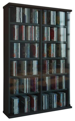 VCM CD / DVD Möbel Roma - Schrank / Regal in 6 Farben: schwarz