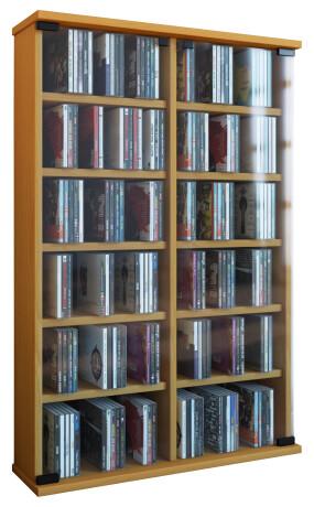 VCM CD / DVD Möbel Roma - Schrank / Regal in 6 Farben: buche