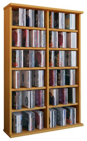VCM CD / DVD Möbel Ronul - Schrank / Regal ohne Glastür in 7 Farben: buche