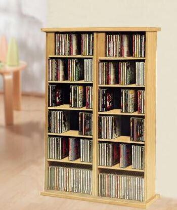 VCM CD / DVD Möbel Ronul - Schrank / Regal ohne Glastür in 7 Farben: kern-nussbaum