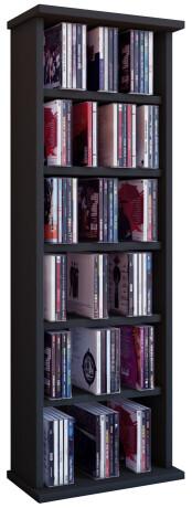 """VCM CD / DVD Möbel """"Vostan"""" - Schrank / Regal ohne Glastür in 7 Farben Farbe: schwarz"""