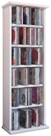 """VCM CD / DVD Möbel """"Vostan"""" - Schrank / Regal ohne Glastür in 7 Farben Farbe: weiß"""