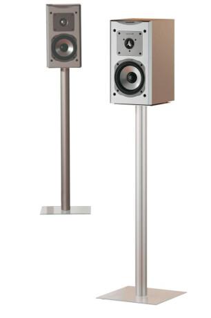 VCM 2x Lautsprecherstands Boxero Maxi Klarglas 71 cm