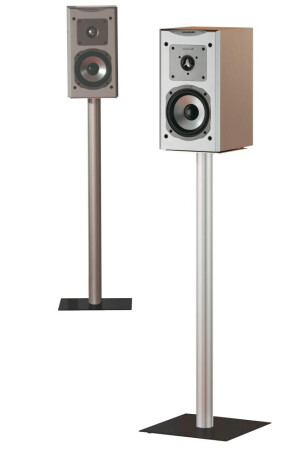 VCM 2x Lautsprecherstands Boxero Maxi Schwarzglas 71 cm