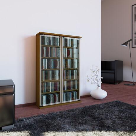"VCM CD / DVD Möbel ""Galerie"" | Schrank / Regal Eiche-Rustikal"
