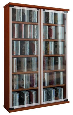 """VCM CD / DVD Möbel """"Galerie""""   Schrank / Regal Kirschbaum"""