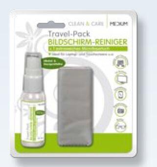 Medium Travel-Pack Bildschirm-Reiniger
