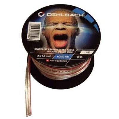 Oehlbach Silverline Lautsprecherkabel auf Mini-Spule 2 x 2,5 qmm - 30 m