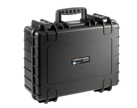 B&W Hartschalenkoffer Typ 5000 schwarz mit Tragegurt