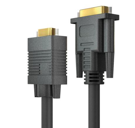 OneAV PA-C1000-020 DVI/VGA Kabel - schwarz - 2,00m