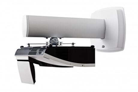 SMS Kurzdistanz-Projektorwandhalterung 680mm Säule weiß