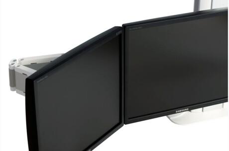SMS Flatscreenstandfuß Multi Control Dual Clamp weiß