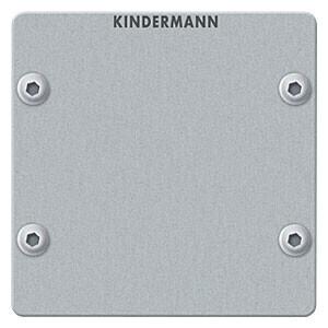 Kindermann Blindblende Vollblende 50 x 50 mm Aluminium eloxiert