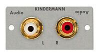 Kindermann Audio L/R (2x Cinch) mit Loetanschluss Halbblende 54 x 54 mm