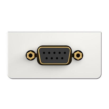 Kindermann Konnect design click RS232 (9-Pin), Anschlussblende mit Kabelpeitsche