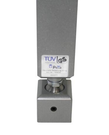 PeTa Stahlkugelgelenk (Aufpreis) für PeTa Decken- und Wandhalterungen, bis max 40 kg