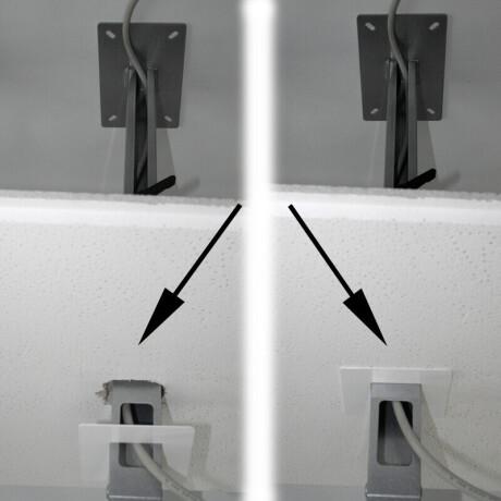PeTa Rosette Standard zur Abdeckung für Deckenausschnitt, Durchmesser 85mm, weiß